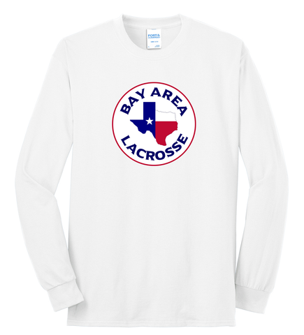 Bay Area Lacrosse White Long Sleeve T-Shirt