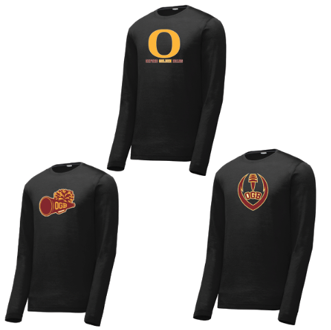 Oxford Golden Bears Long Sleeve CottonTouch Performance Shirt