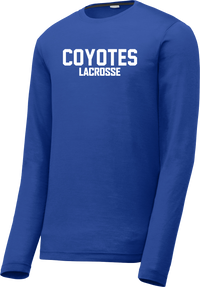 Coyotes Lacrosse Blue Long Sleeve CottonTouch Performance Shirt