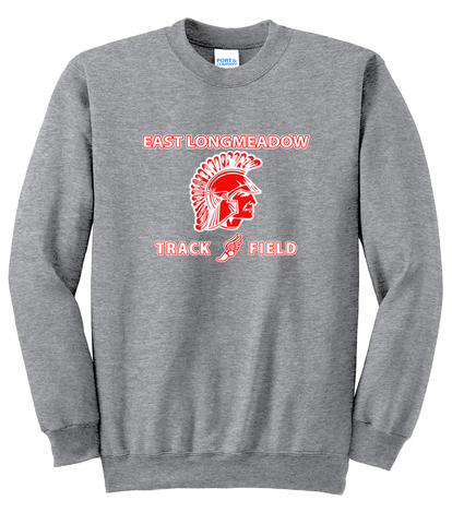 East Longmeadow Track and Field Athletic Heather Crew Neck Sweater