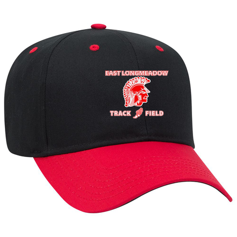 East Longmeadow Track and Field Black/Red Cap