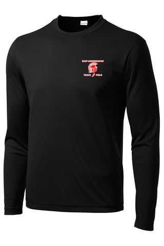 East Longmeadow Track and Field Black Long Sleeve Performance Shirt