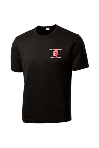 East Longmeadow Track and Field Black Performance T-Shirt