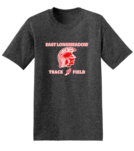 East Longmeadow Track and Field Charcoal Heather T-Shirt