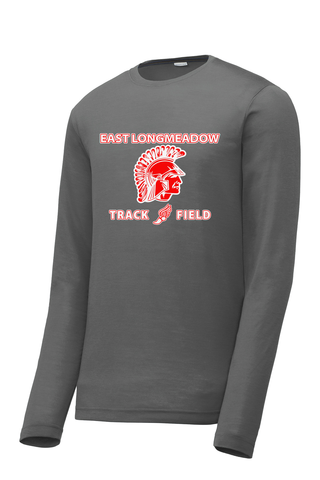 East Longmeadow Track and Field Smoke Grey Long Sleeve CottonTouch Performance Shirt