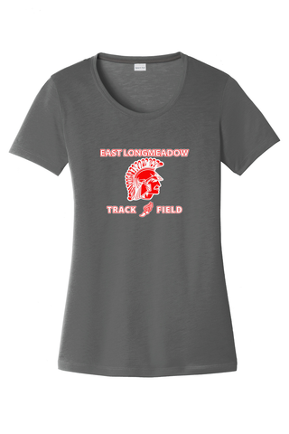 East Longmeadow Track and Field Women's Smoke Grey CottonTouch Performance T-Shirt