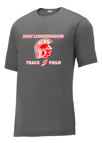 East Longmeadow Track and Field Smoke Grey CottonTouch Performance T-Shirt