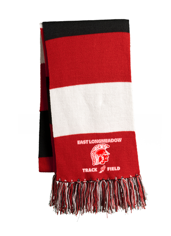 East Longmeadow Track and Field Red/Black/White Team Scarf