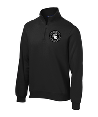 East Longmeadow Girls Track 1/4 Zip Fleece (Black)