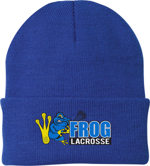 Frog Lacrosse Royal Blue Knit Beanie
