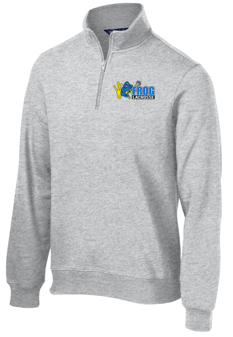 Frog Lacrosse Grey 1/4 Zip Fleece