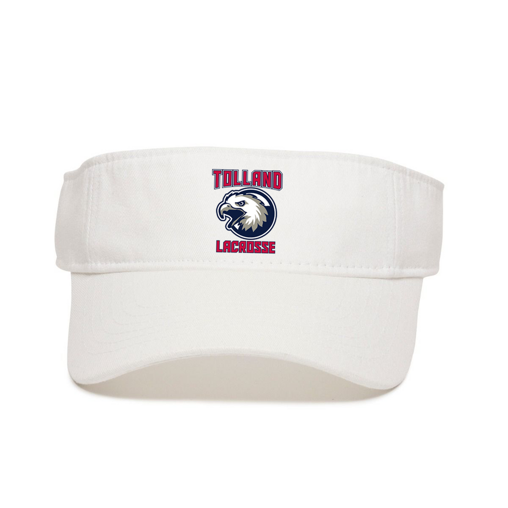 Tolland Lacrosse Club Garment Washed Visor