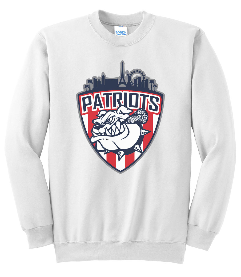 Las Vegas Patriots White Crew Neck Sweatshirt
