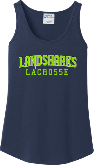 Bay Area Landsharks Women's Navy Tank Top Text Logo
