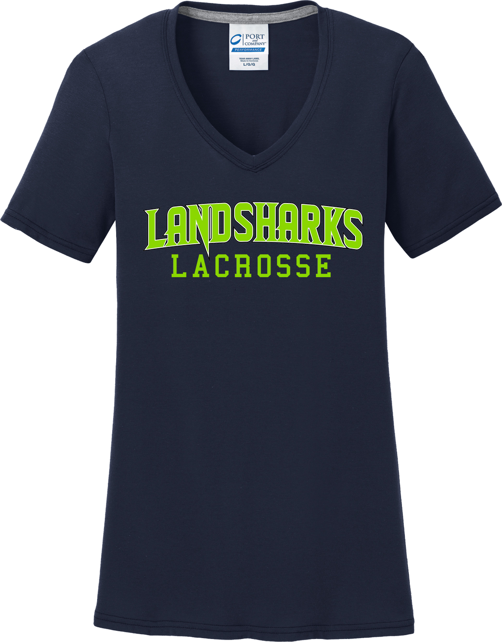Bay Area Landsharks Women's Navy T-Shirt Text Logo