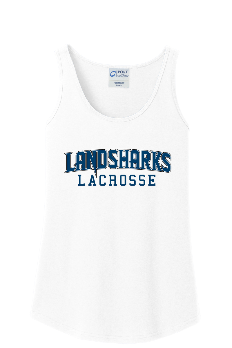 Bay Area Landsharks Women's White Tank Top Text Logo