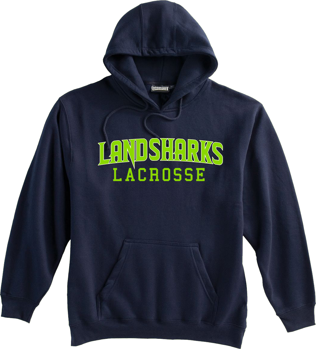 Bay Area Landsharks Navy Sweatshirt Text Logo