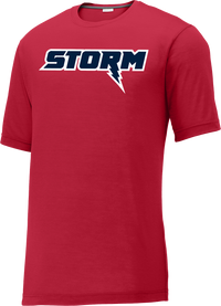 Oak Mountain Youth Lacrosse Red CottonTouch Performance T-Shirt