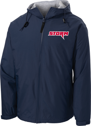 Oak Mountain Youth Lacrosse Navy Hooded Jacket