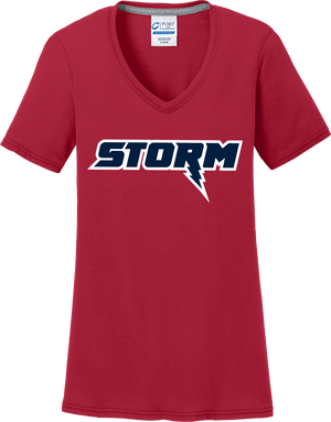 Oak Mountain Youth Lacrosse Women's Red T-Shirt