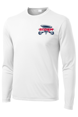Oak Mountain Youth Lacrosse White Long Sleeve Performance Shirt