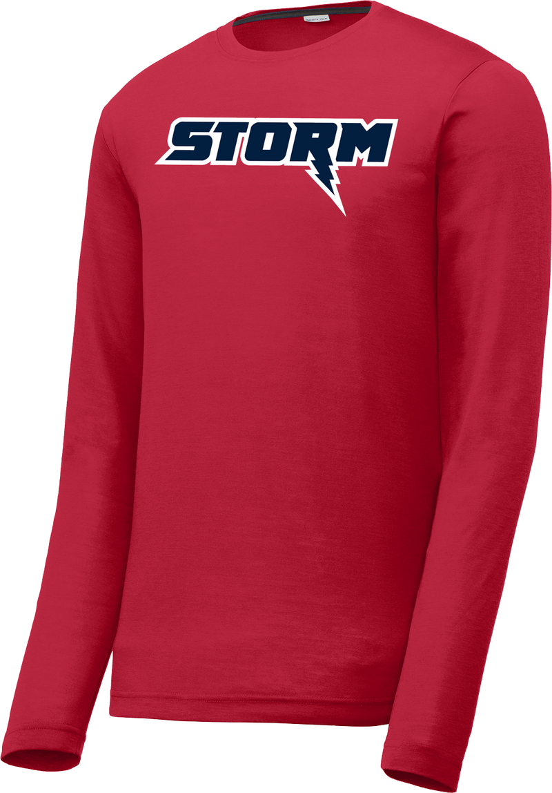 Oak Mountain Youth Lacrosse Red Long Sleeve CottonTouch Performance Shirt
