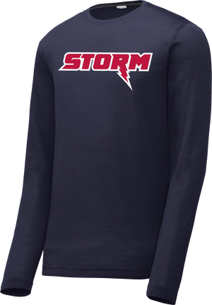 Oak Mountain Youth Lacrosse Navy Long Sleeve CottonTouch Performance Shirt