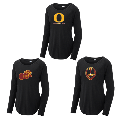 Oxford Golden Bears Women's Raglan Long Sleeve CottonTouch