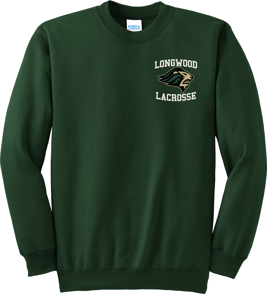 Longwood Lacrosse Green Crew Neck Sweatshirt