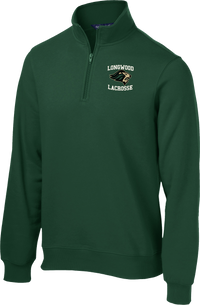 Longwood Lacrosse Green 1/4 Zip Fleece