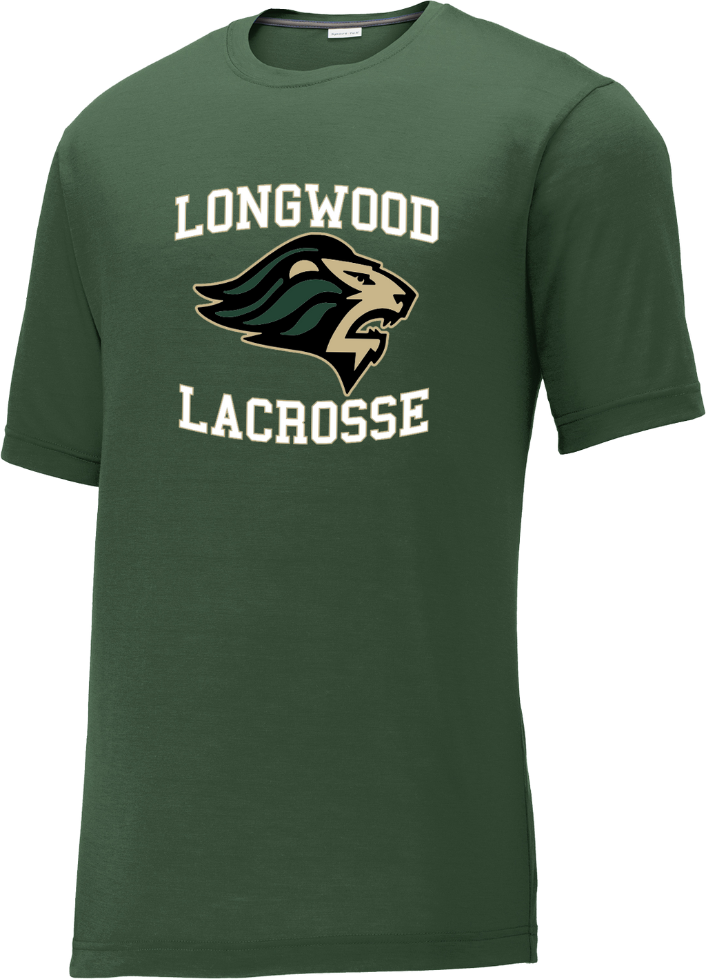 Longwood Lacrosse Green CottonTouch Performance T-Shirt
