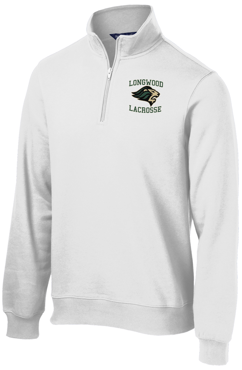 Longwood Lacrosse White 1/4 Zip Fleece