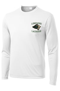 Longwood Lacrosse White Long Sleeve Performance Shirt