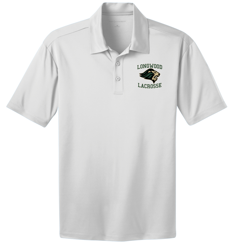 Longwood Lacrosse White Polo