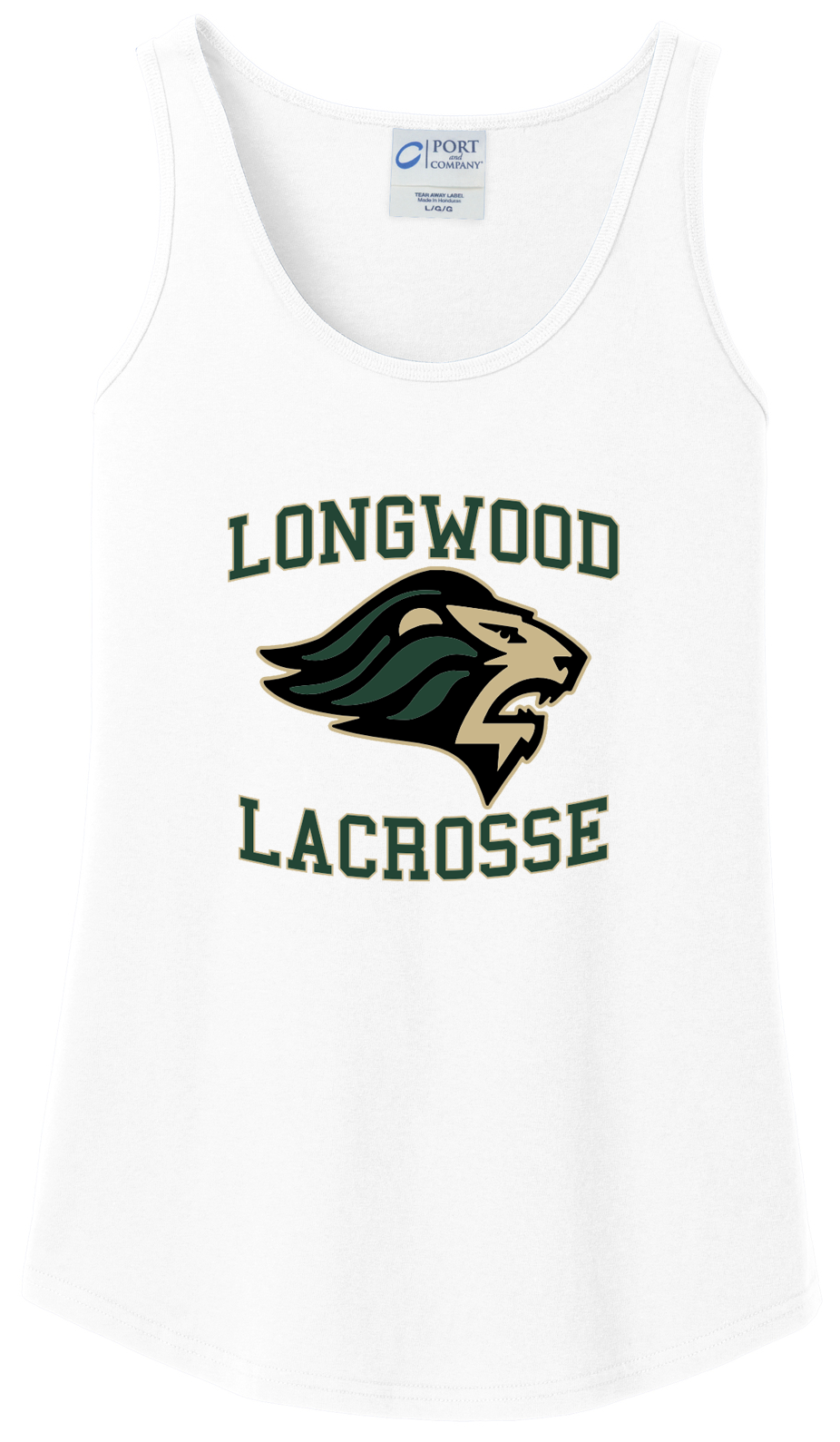 Longwood Lacrosse Women's White Tank Top