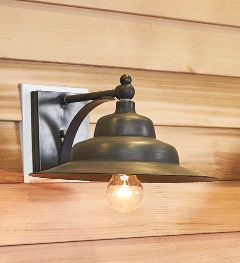 "Outdoor Wall Sconce with Tiered Barn Wall 11.75"" Shade 11011 - FLC Select"