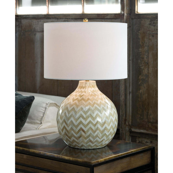 Chevron Bone Table Lamp (Natural) 13-1201 - FLC Select