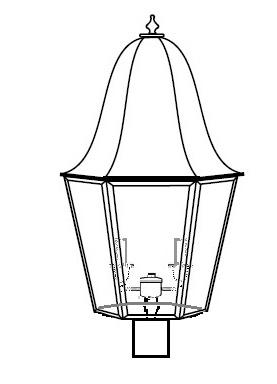 Iris Outdoor Post Lantern 15322 - FLC Select