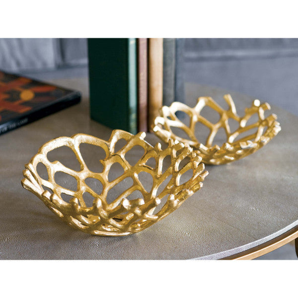 Web Bowl Set of 2 (Gilded) 20-1191 - FLC Select
