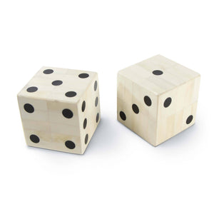 Oversized Bone Gaming Dice Pair Acessory 20-1413