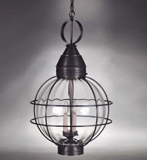 Caged Round Onion Outdoor Hanging Lantern 2862 - FLC Select