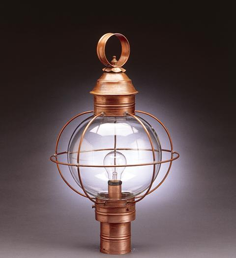 Caged Round Onion Outdoor Post Lantern 2843 - FLC Select