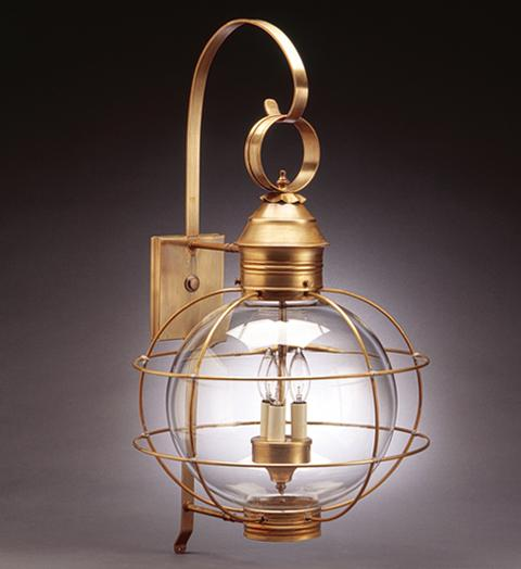 Caged Round Onion Outdoor Wall Lantern 2851 - FLC Select