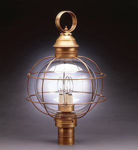 Caged Round Onion Outdoor Post Lantern 2853 - FLC Select