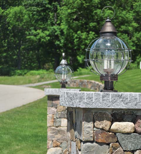 Caged Round Onion Outdoor Post Lantern 2863 - FLC Select