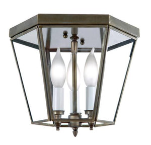 "3764 Outdoor Medium 9""W Hexagon Ceiling Flush Mount"