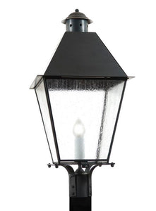 "4470 Country Manor Large 13.5""W Outdoor Post/Pier Lantern with Metal Top"
