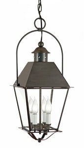 "4472Y Country Manor Extra Large 13.5""W Hanging Outdoor Lantern in Metal Top with Bail"
