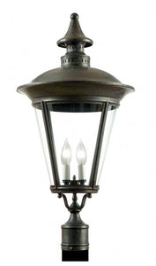 "4500 Copenhagen Small 12""W Outdoor Post/Pier Lantern"