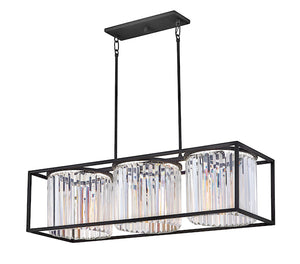 Giada Three Light Linear Chandelier 4556